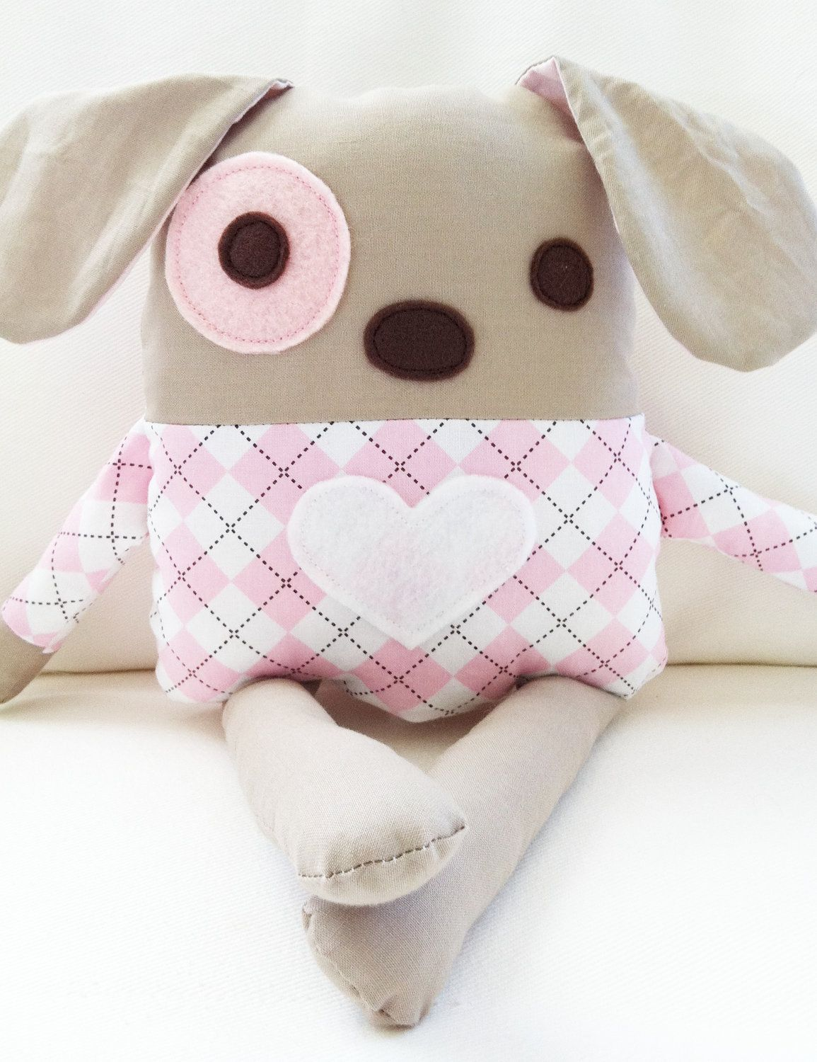 Dog Sewing Pattern - Plush Dog Softie Pattern - PDF | Muñecos de ...