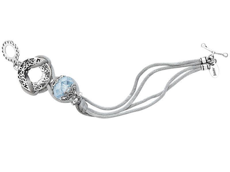 Bransoleta srebrna z kryształem | Apart
