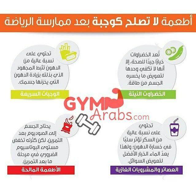 Gym Arabs On Instagram أطعمة لا تصلح كوجبة بعد ممارسة الرياضة فيتنس جيم طاقة قوة معلومات جيم العرب رياضة كمال الأجس Positive Life Instagram Posts Gym
