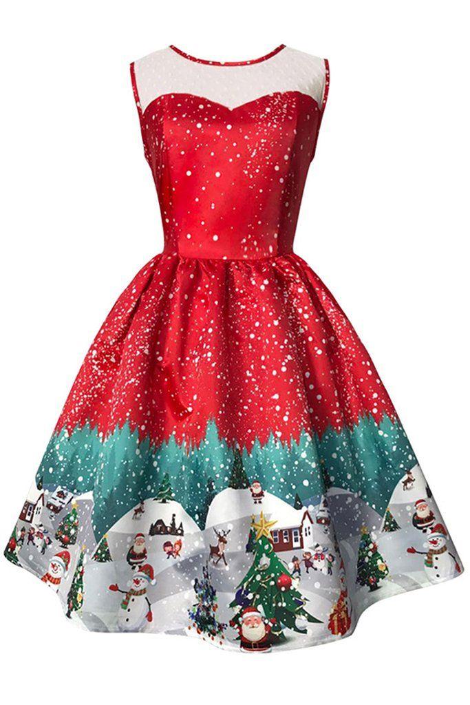 26396d1ed622 Atomic Red Snowy #ChristmasDress | Best of Rockabilly | Vintage ...