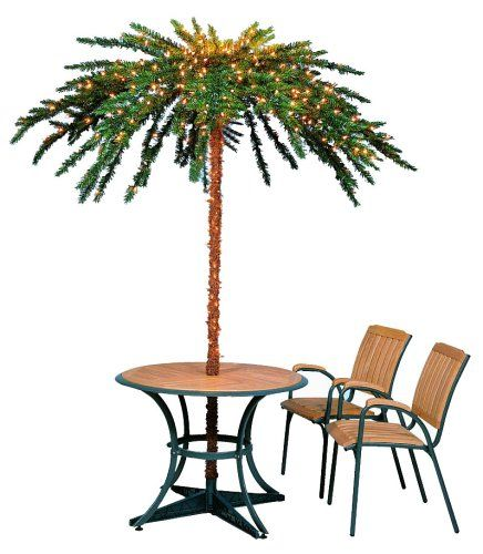 Barcana 7 5 Foot Umbrella Palm Tree Ready Trim With Clear Lights Http