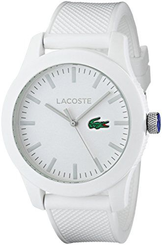 86698396b Lacoste Mens 2010762 Lacoste1212 White Watch with Textured Band ** You can  find more details by visiting the image link.