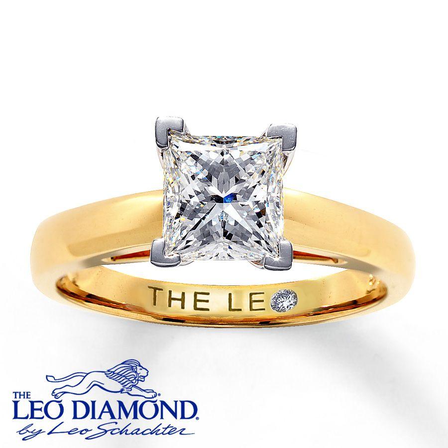 Diamond solitaire ring ct princesscut k yellow gold love