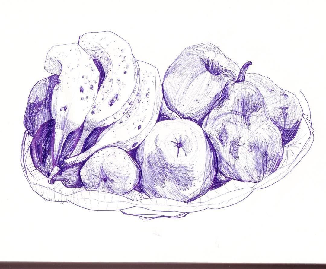 Watch the Best YouTube Videos Online - #personaldrawing #drawing #dessin #dessins #stilllifes #fruit #apple #orange #corbeilledefruit #mydrawings #fun #bicdrawing #bic #blue #likephoto