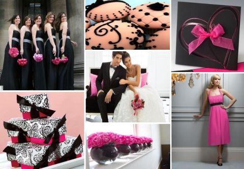 fuchsia and black wedding theme - exactly what i'm doing :-)