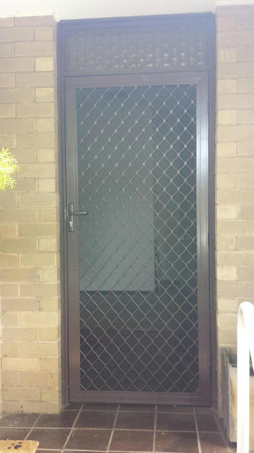 Aluminum Diamond Design Security Door Installed In South Oakliegh Aluminium Doors Wrought Iron Front Door Grill Door Design