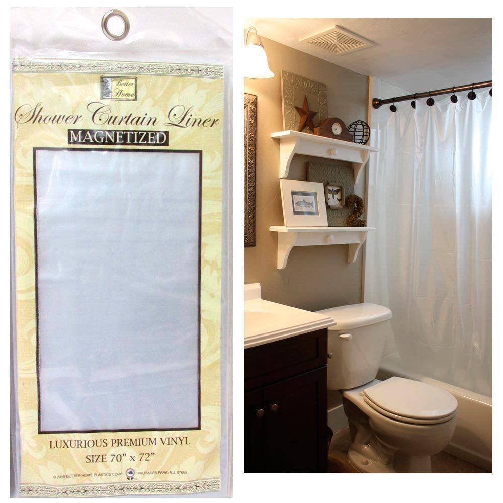 Frosted Clear Shower Curtain Liner 100 Vinyl 70x72 Magnetic Mildew Repellent Shower Mold Diy Mould Removal Mildew
