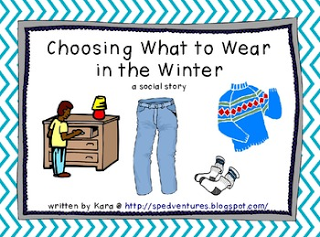 winter weather clothing - social stories | pre k | Social