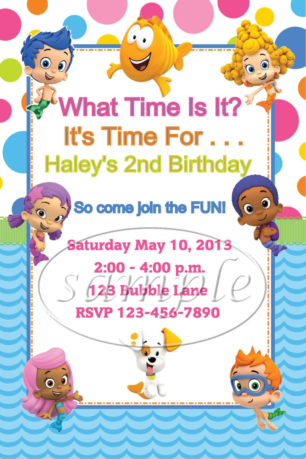 Bubble Guppies Birthday Party Invitations by KiddieCreations1 ...