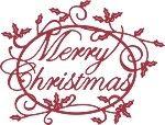 Merry Christmas Holly Sentiment