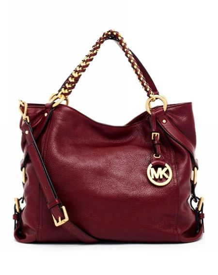 Bordeaux Nwt Tristan Large Kors Michael Leather pUMVGLqSz