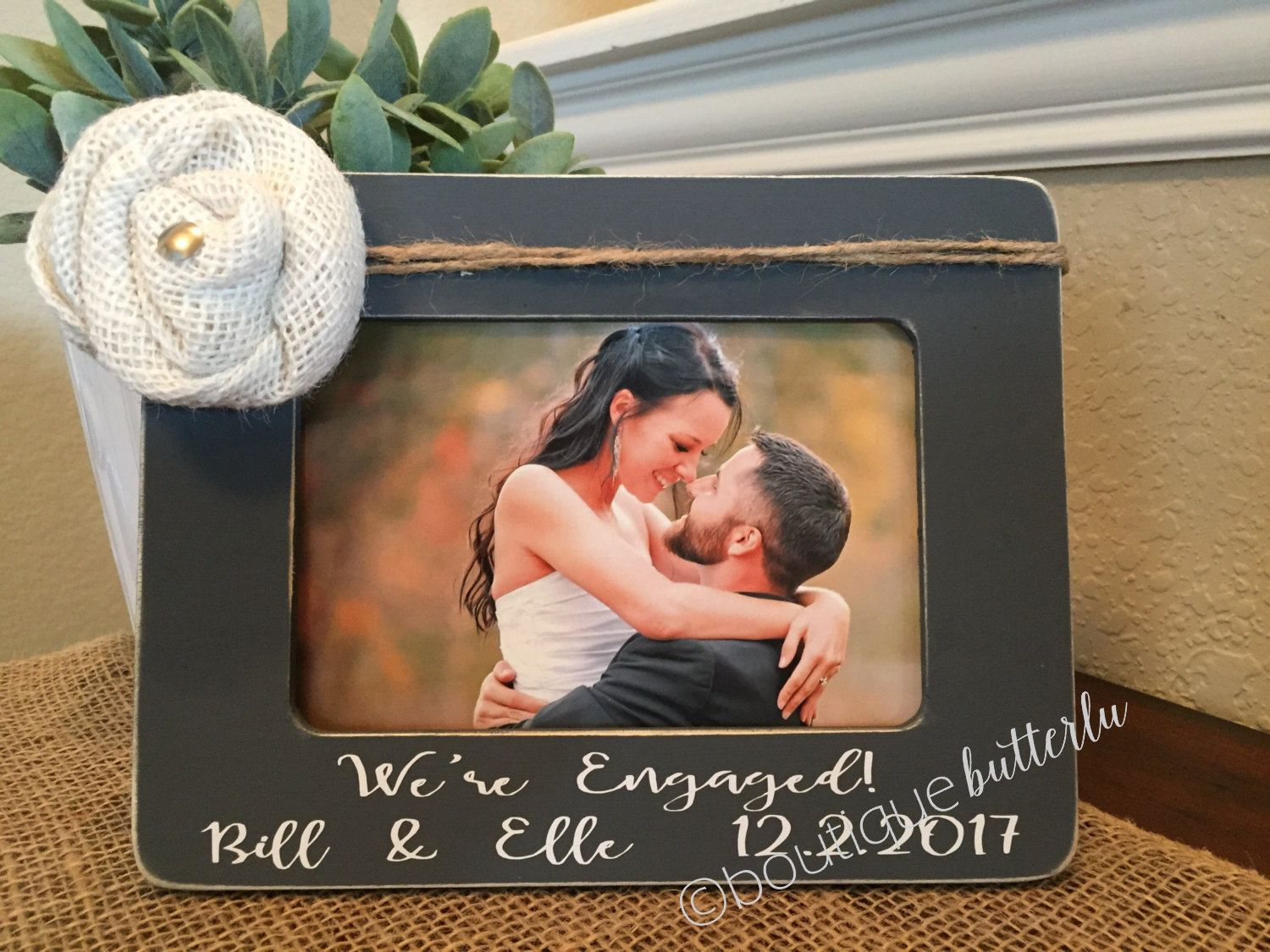 Engagement Gift Engagement Picture Frame 4x6 Frame Engagement