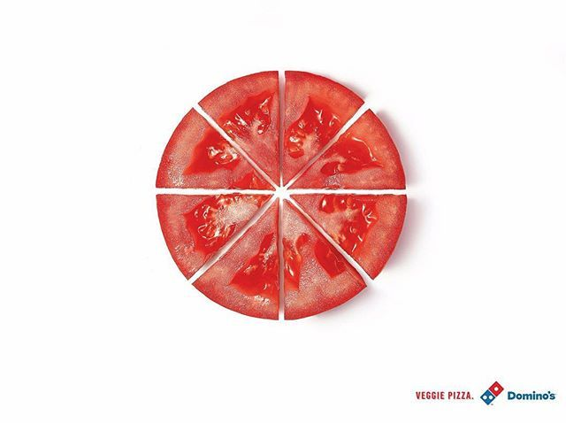 Sencillo y directo. Pizzas vegetarianas de Domino's Pizza  Gráfica de Artplan (Brasil) #publicidad #creatividad #advertising