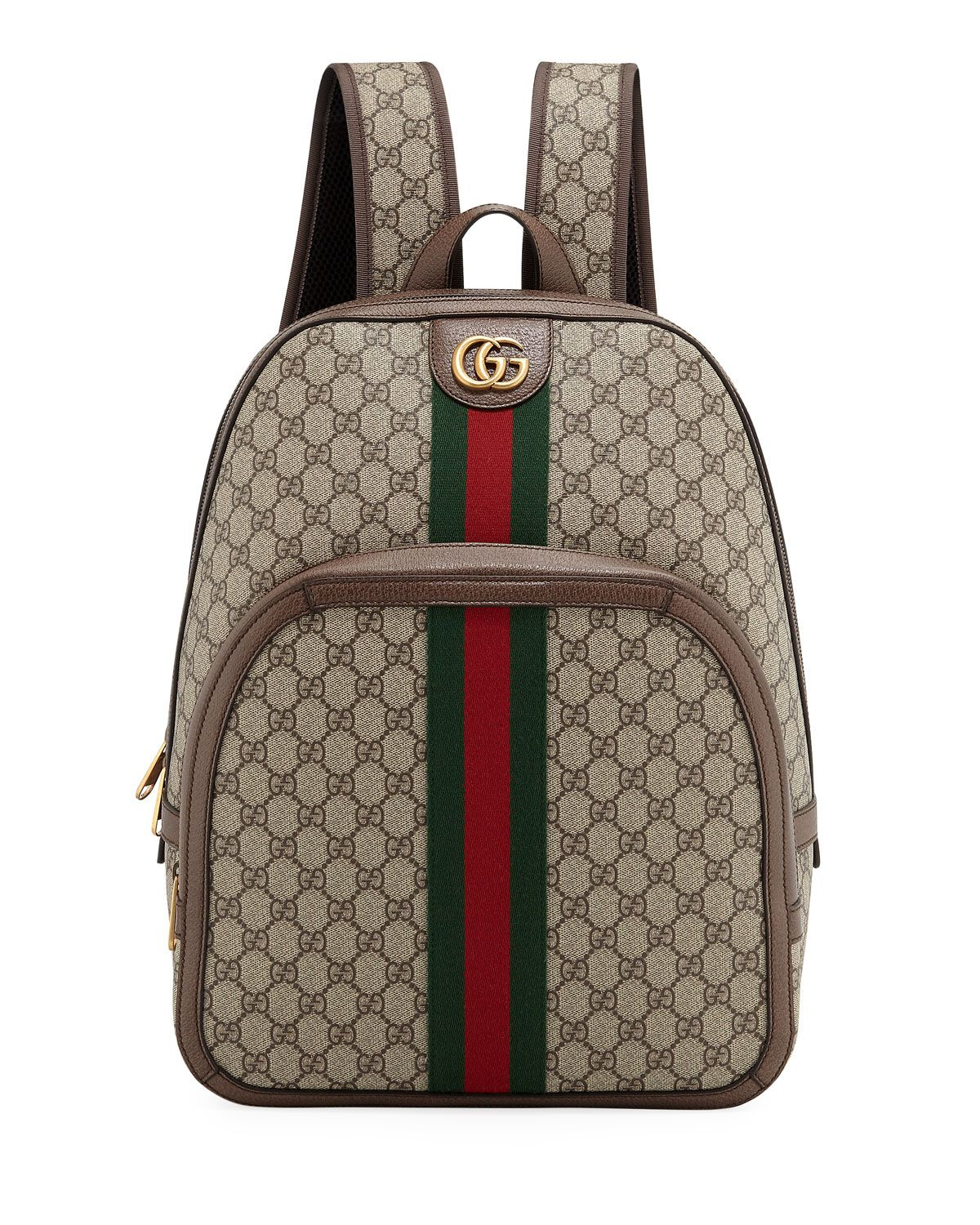 1767c6be4 GUCCI MEN'S GG SUPREME MEDIUM CANVAS BACKPACK. #gucci #bags #leather  #canvas #backpacks