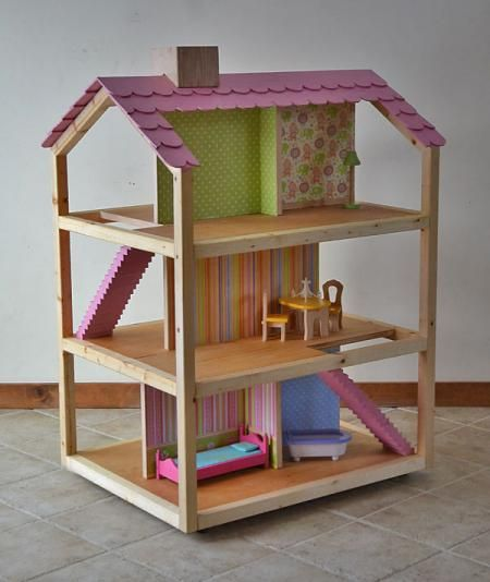 Modern Wooden White Table Deck Doll House Miniature Furniture