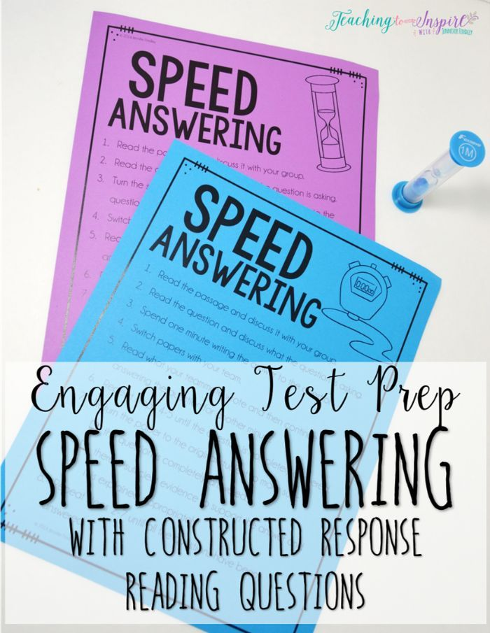 Speed Answering: An Engaging Test Prep Review for Constructed Response