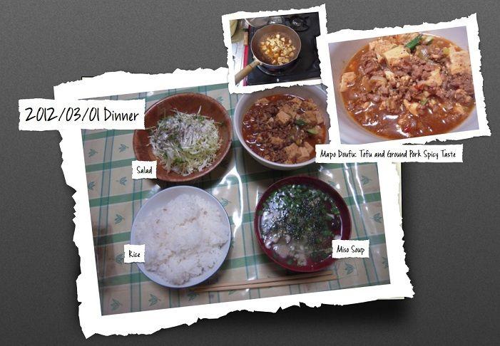 For Dinner on 01 Mar 2012