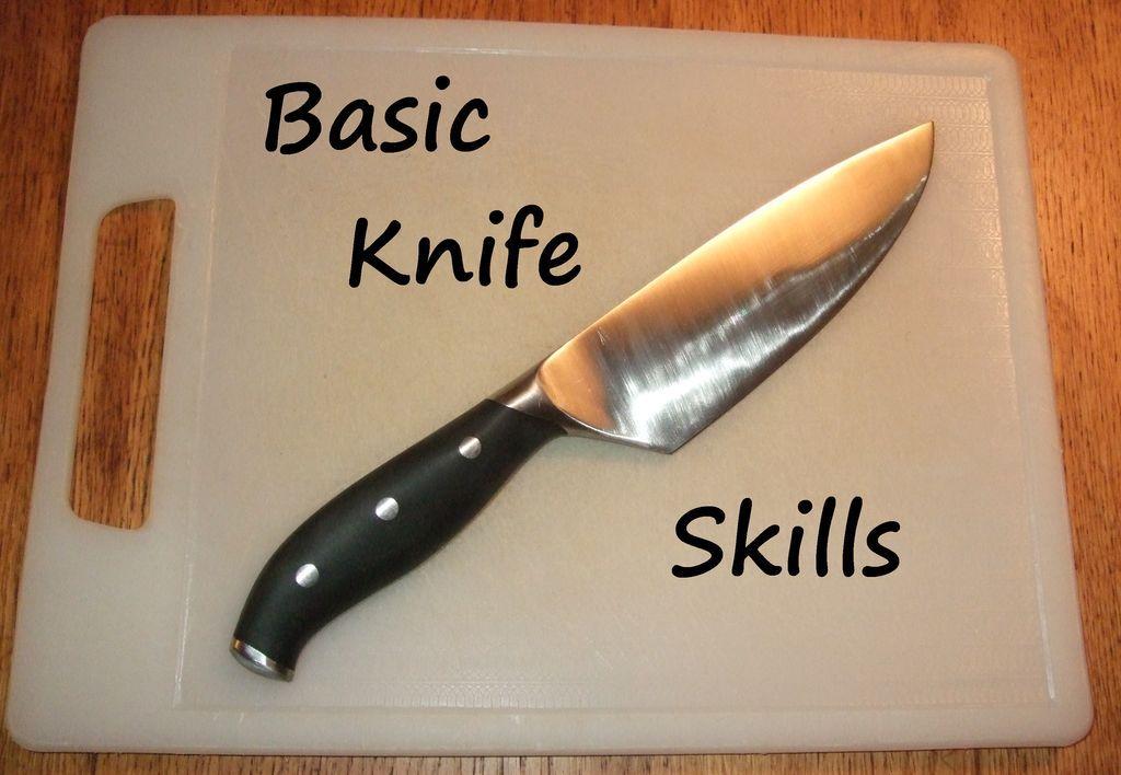 Basic knife skills kitchen knives