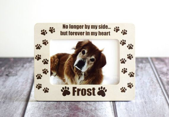 Forever In My Heart Pet Memorial Picture Frame -Cat or Dog - Custom ...