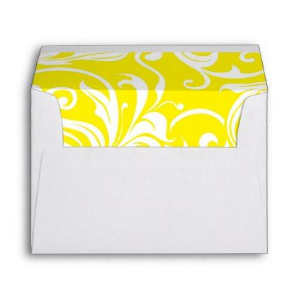 Happy Tropical Yellow Floral Wallpaper Pattern Envelope  Pattern