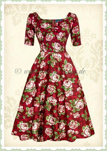Vintage kleid rosen
