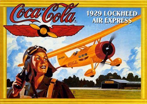 1427 - COCA-COLA 1929 - Lockheed Air Express - 29x41-
