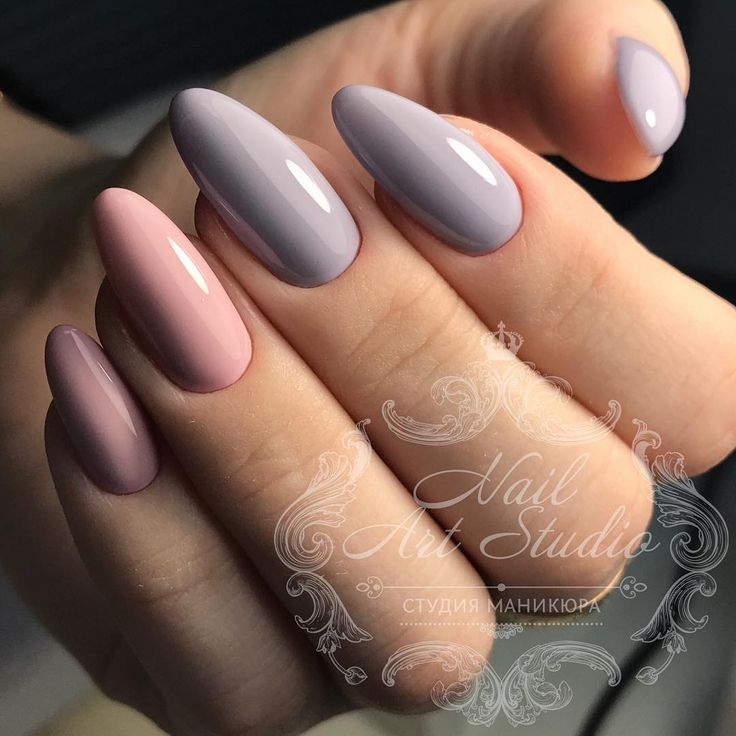 pastel nails, almond shaped nails | notorious nails. | Pinterest ...