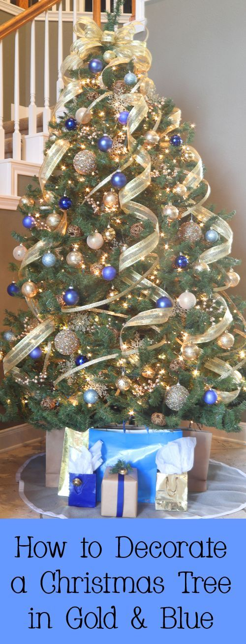 How to Decorate a Christmas Tree in Blue and Gold ...