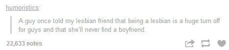 O rly ? #tumblr #gladtoknow #lesbian