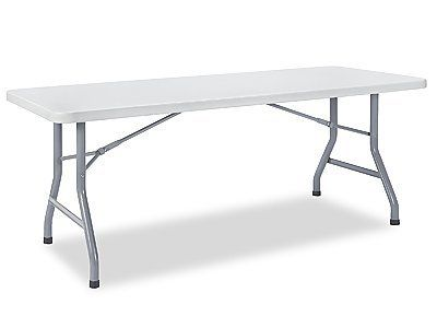 30 X 72 Fold In Half Economy Folding Table By Uline 99 00 Economy Folding Tables Set Up In Seconds For Extra Folding Table Home Kitchens Table Furniture