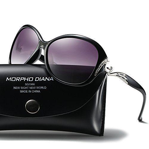 11de59d536 ATTCL Women s Oversized UV400 Protection Driving Polarized Sunglasses  7176-black