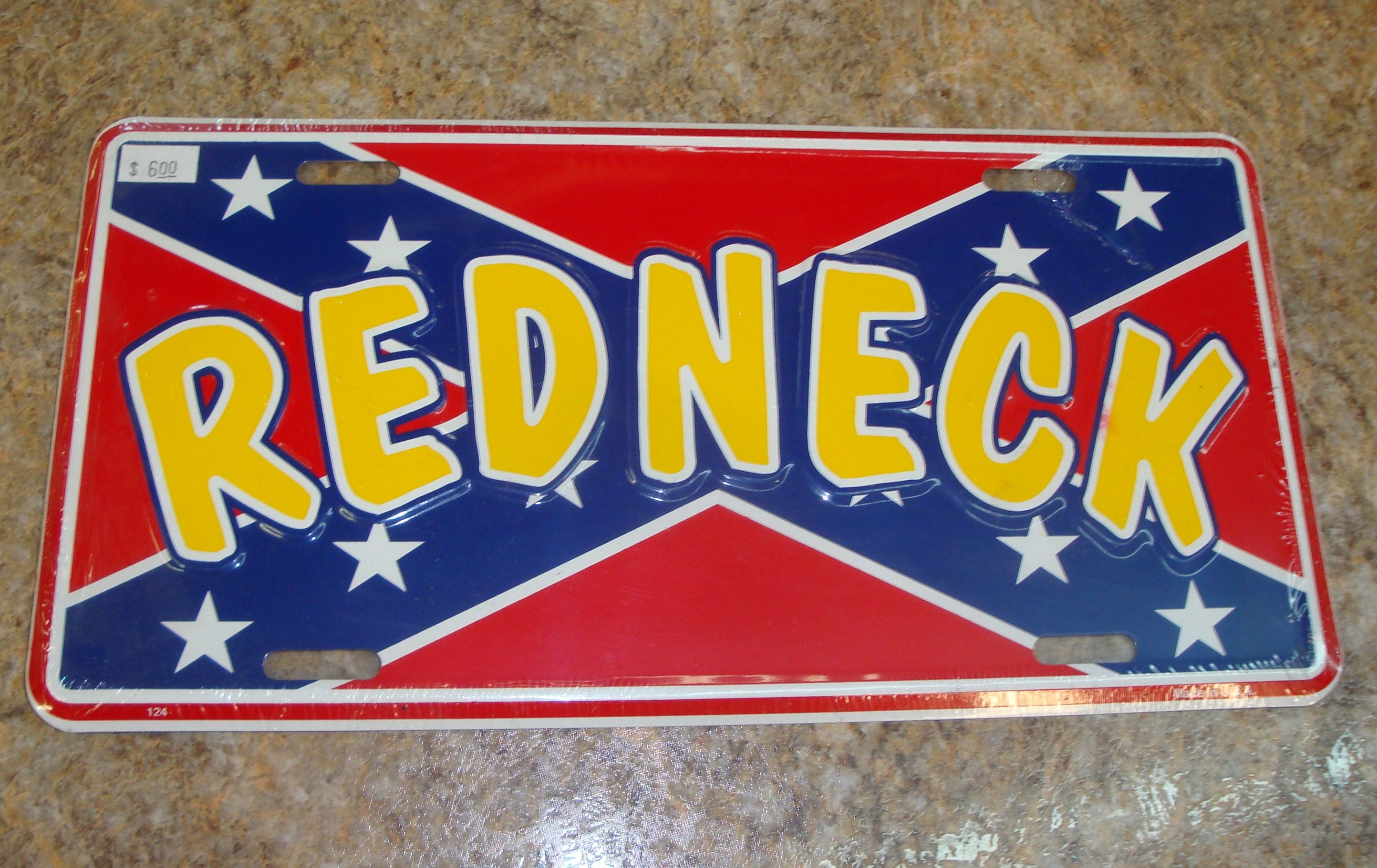 Confederate Flag Redneck License Plate Cover | Country Knick-Knacks ...