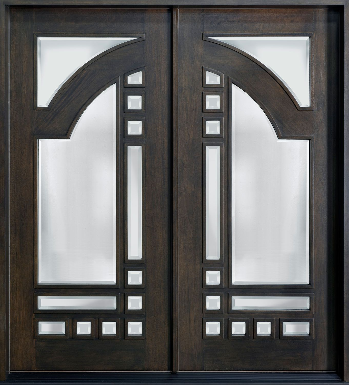 Mahogany Solid Wood Front Entry Door Double Custom Front Entry