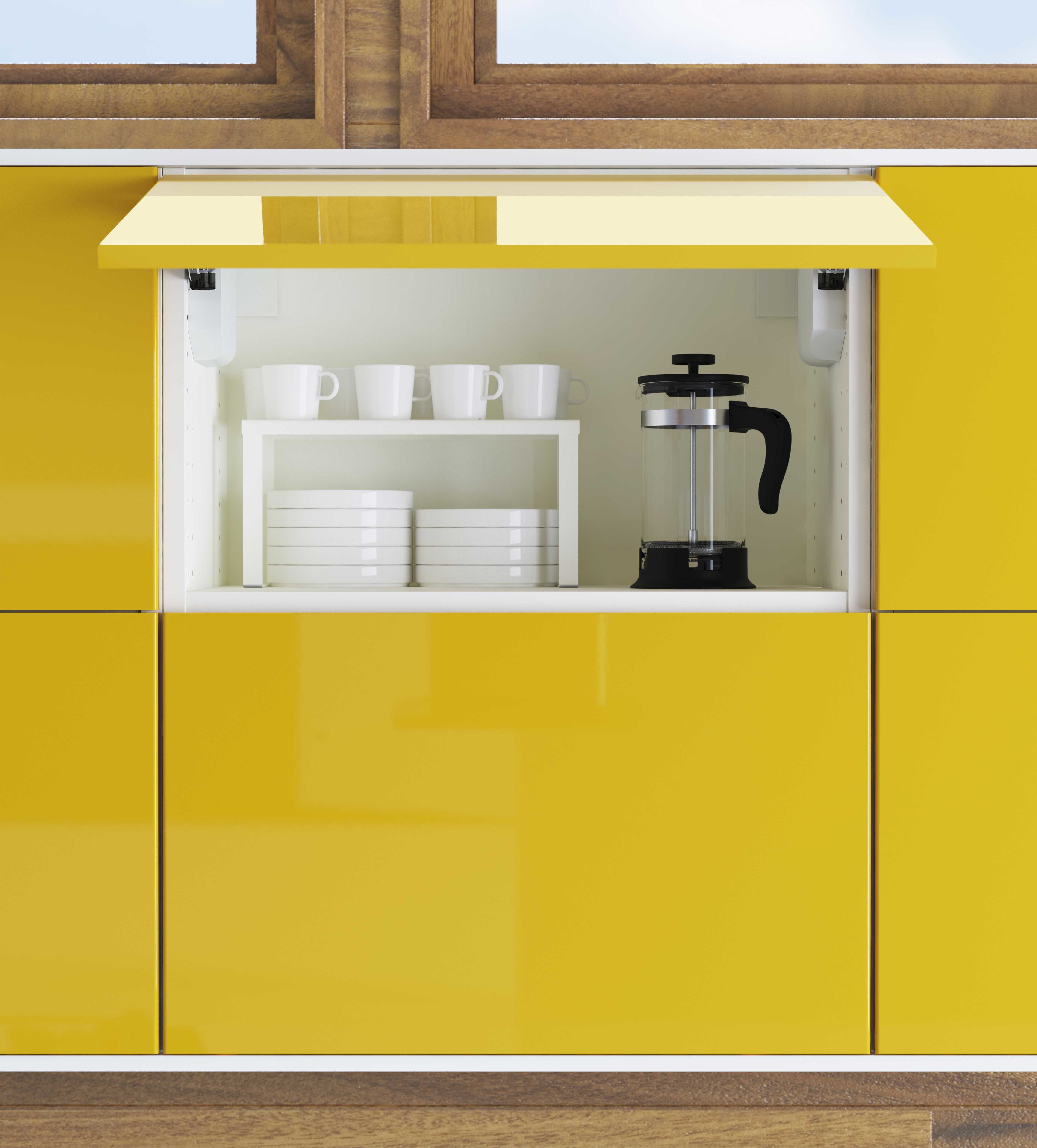 Overhead Cabinets Now Can Be Easily Swung Open For Ease Of Access. The  Kitchens Are
