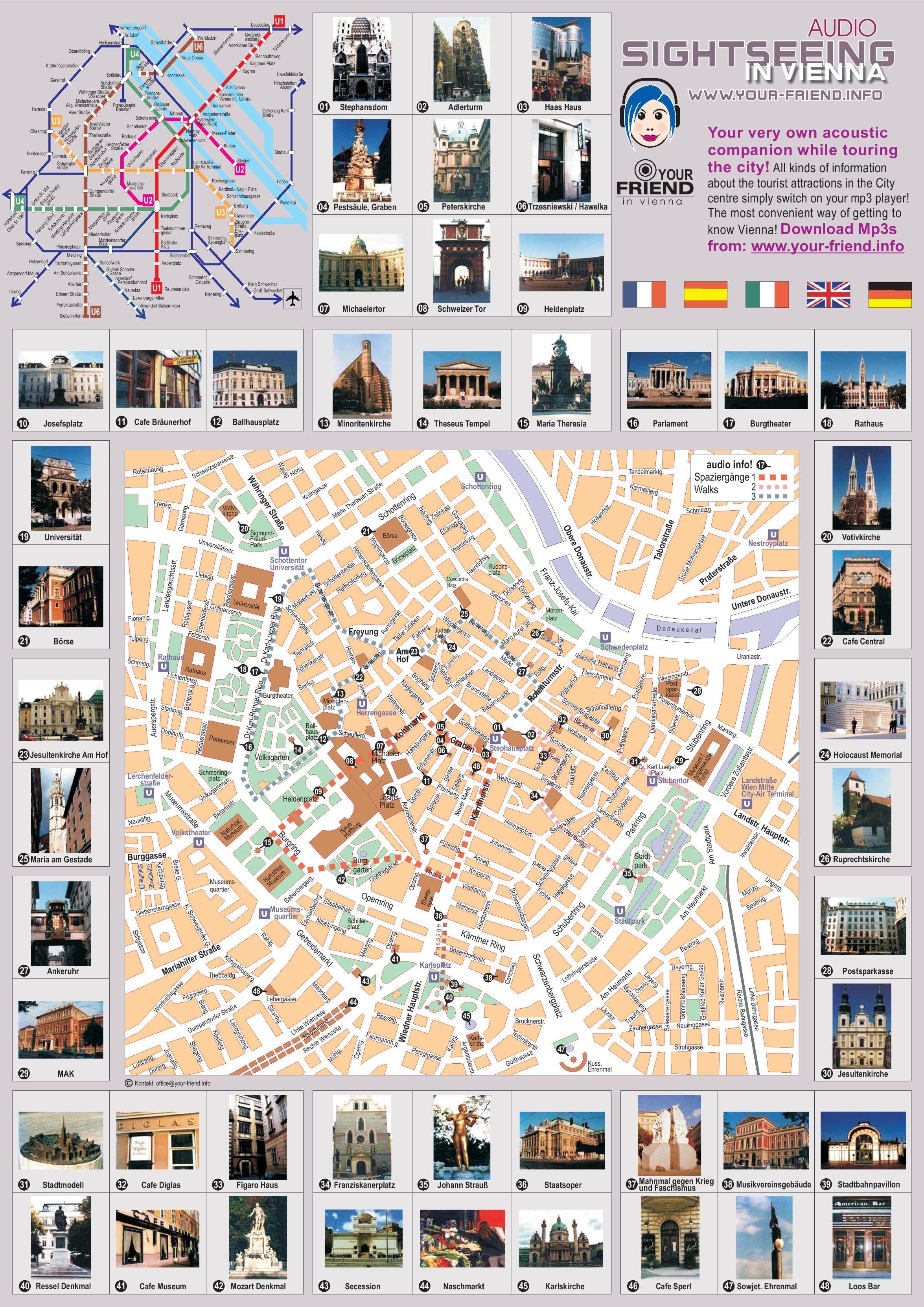 Vienna sightseeing map Pinterest Vienna Budapest and Prague