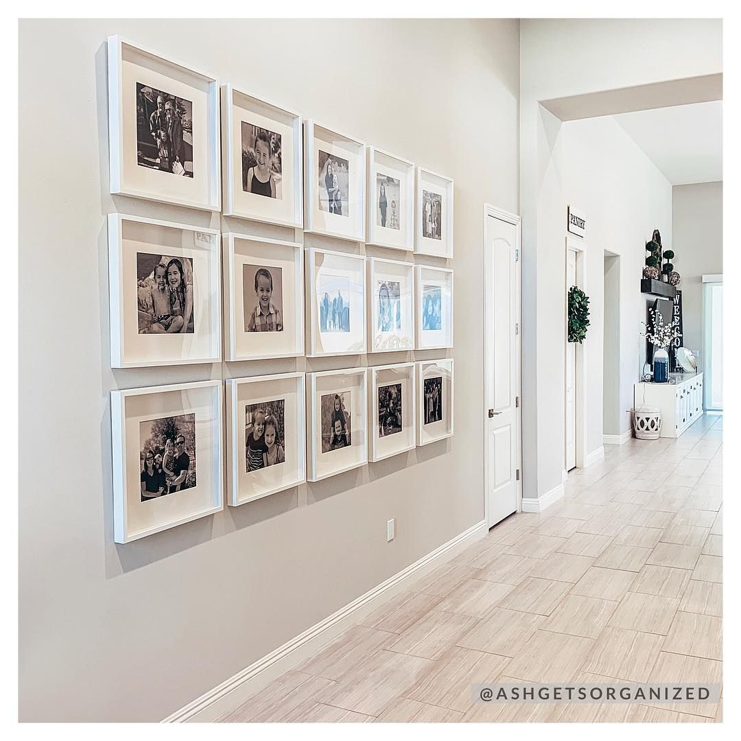 Gallery Wall Inspiration Fifteen Photo Prints White Wall Frames And Mats Are You Looking For Un Family Gallery Wall Gallery Wall Inspiration Frames On Wall