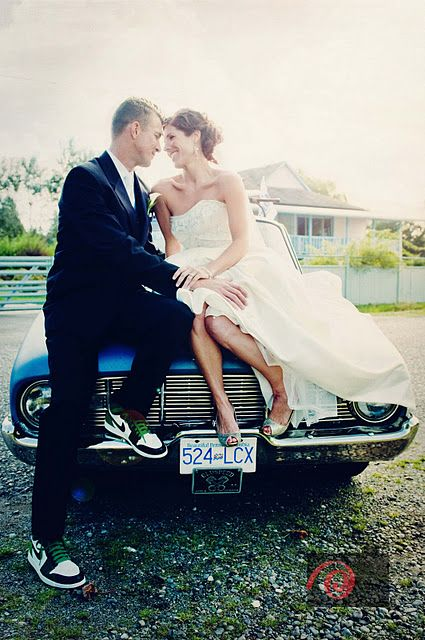 Posed Wedding Photo On A Classic Car Would Love To Be Able To Have