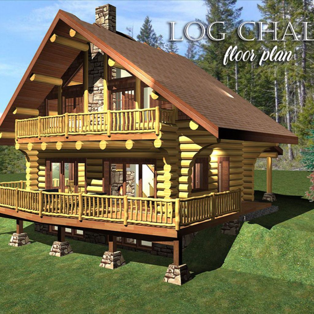 Introducing The 980 Log Chalet Floor Plan Cottage Kits Log Home Floor Plans House Floor Plans