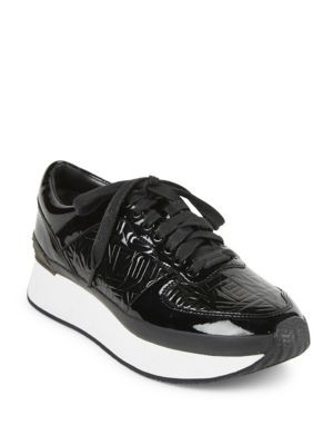 2d906b8b2dc1 KENZO Patent Leather Logo Platform Sneakers.  kenzo  shoes  sneakers ...