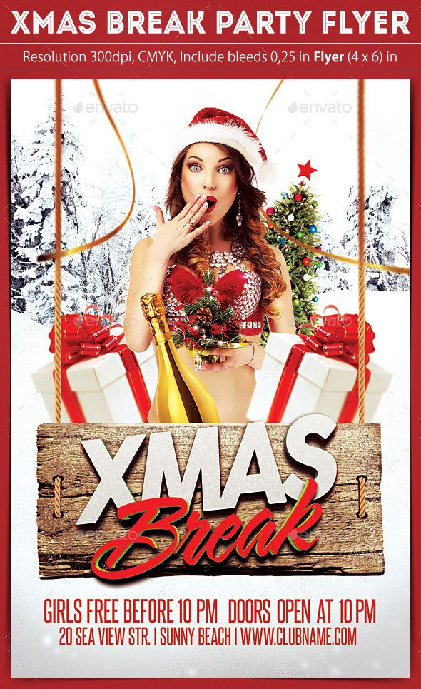 X-Mas Break Party Flyer