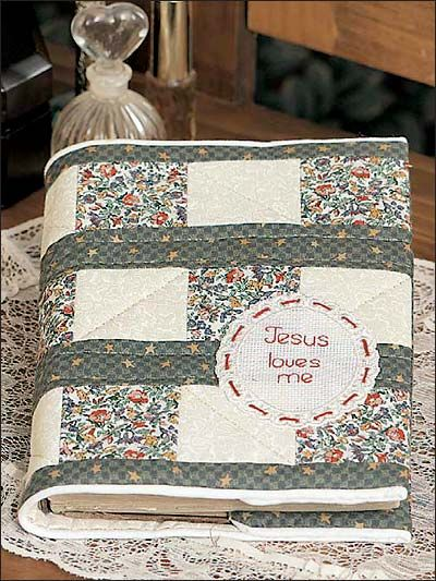 Quilted Bible Cover ~ Make a new quilted cover for your Bible ... : quilted covers - Adamdwight.com