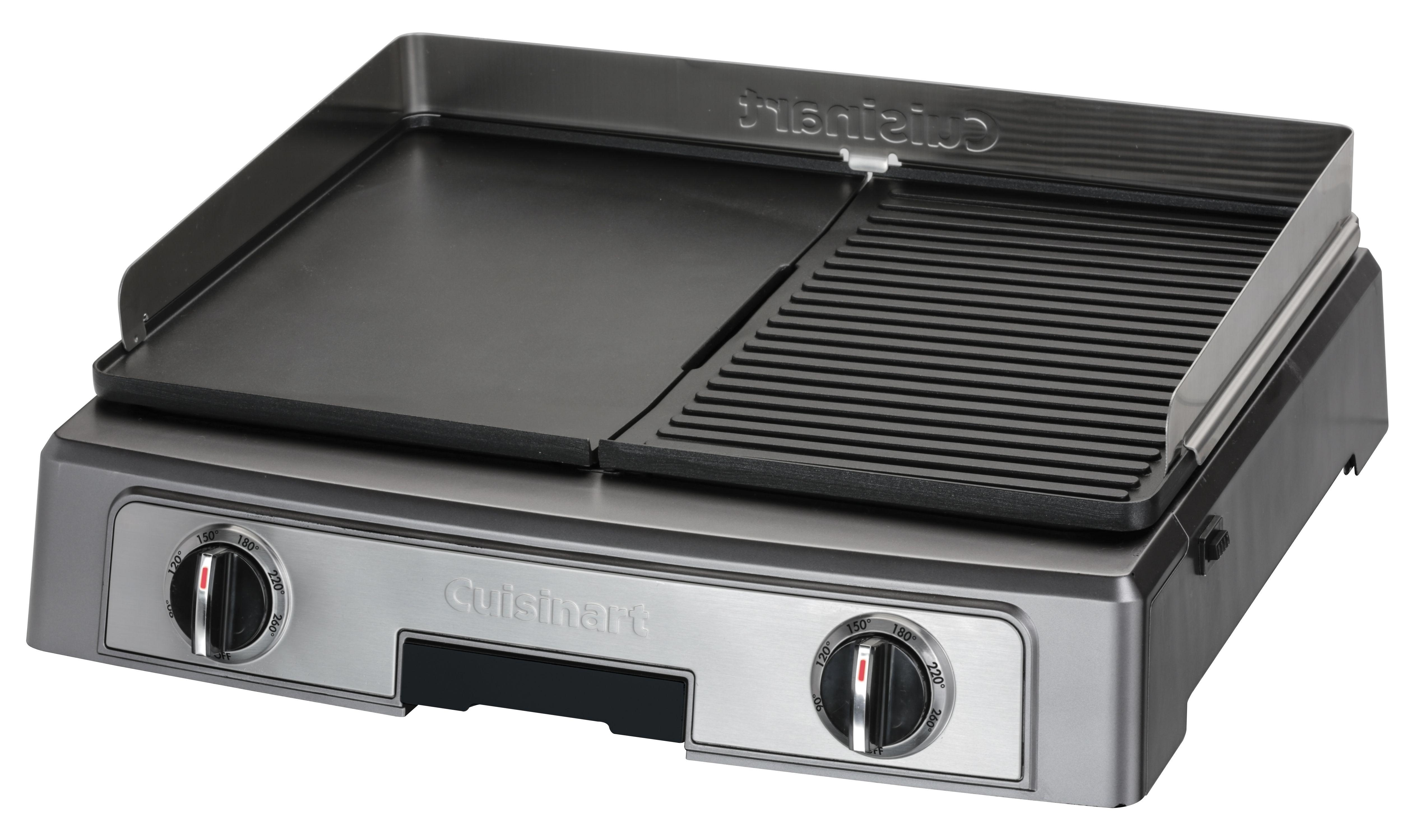 pl50e - plancha barbecue power : plaques xl, acier brossé, 2200w
