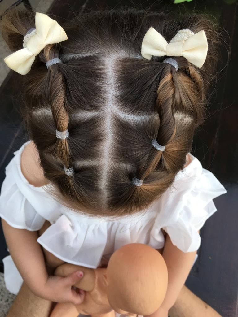 Imagen perfecta peinados con gomitas Colección De Cortes De Pelo Ideas - Peinado,nena,niña,colitas,gomitas,banditas,hair,girl,tail ...