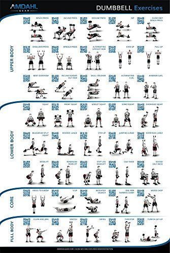 The Best 53 Home Gym Posters to Motivate You - Dumbbell - Ideas of Dumbbell #Dumbbell - Dumbbell Exercise Poster; 20