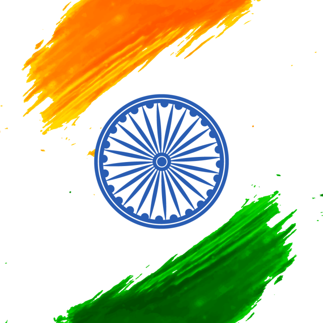 Abstract Of India Independence Day With Ashoka Chakra