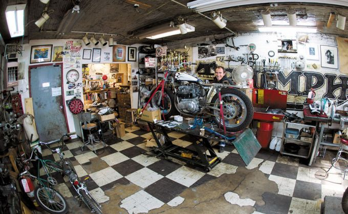 Rearview Friday Motorcycle Dream Garages By Lee Klancher