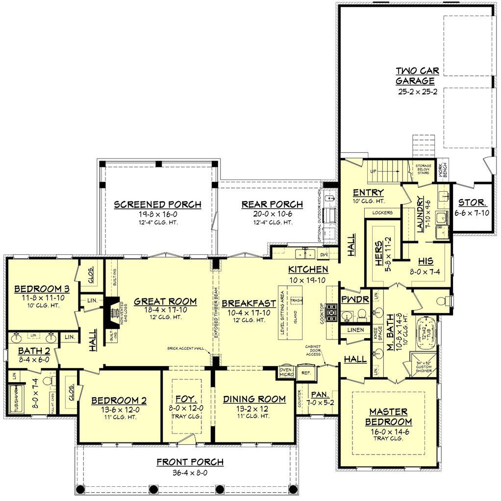 Azalea House Plan Country Style House Plans House Floor Plans French House Plans