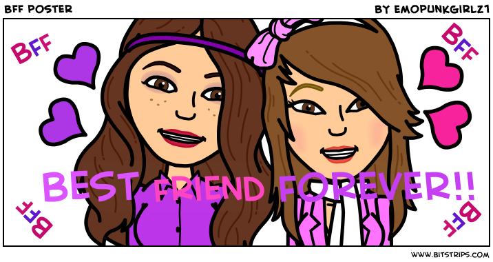 BFF poster Bff Best friends forever Just friends