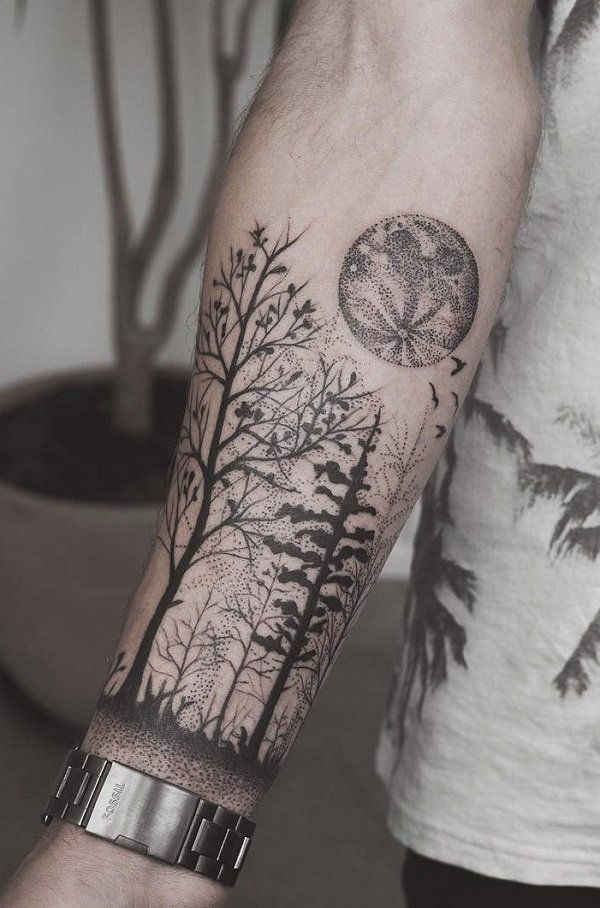 df3a07bdfbadb 110+ Awesome Forearm Tattoos | Tattoos | Forearm tattoo men, Forest ...