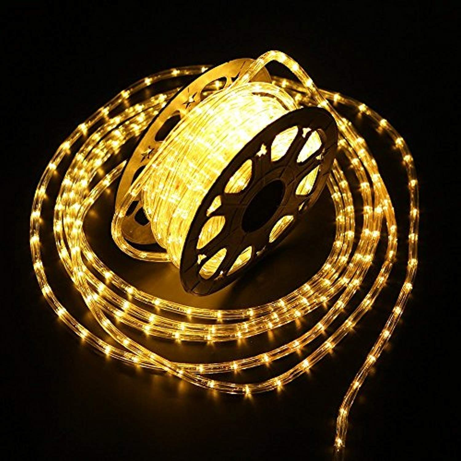 Yuliang 100 Feet 1 2 Thick 110v 2 Wire Waterproof Led Rope Light Kit For Background Lighting Christmas Lighting Bridges Ea Led Rope Lights Led Rope Rope Light